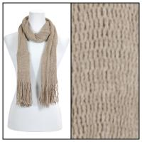 Scarves - Crochet Mesh Tubed 4073 - Brown
