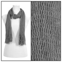 Scarves - Crochet Mesh Tubed 4073 - Grey