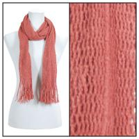 Scarves - Crochet Mesh Tubed 4073 - Orange