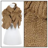 Scarves - Ruffle Knit Metallic 4085 - Brown