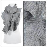 Scarves - Ruffle Knit Metallic 4085 - Grey