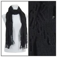 Scarves - Abstract Weave 4101 - Black