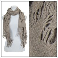 Scarves - Abstract Weave 4101 - Grey
