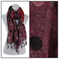 Scarves - Flowers and Dots 8138 - Raspberry
