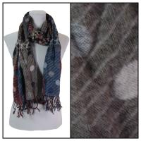 Scarves - Flowers and Dots 8138 - Taupe