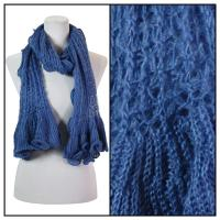 Scarves - Crochet Wave 4068 - Blue