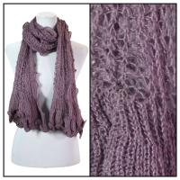 Scarves - Crochet Wave 4068 - Purple