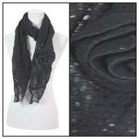 Scarves - Bohemian Flower #3 4081 - Black