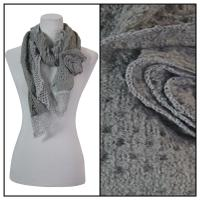 Scarves - Bohemian Flower #3 4081 - Grey