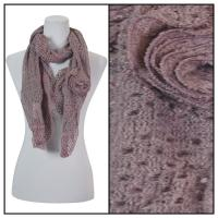 Scarves - Bohemian Flower #3 4081 - Purple