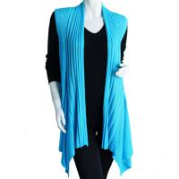 Magic Convertible Long Ribbed Sweater Vest - Turquoise