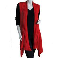 Magic Convertible Long Ribbed Sweater Vest - Red