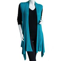 Magic Convertible Long Ribbed Sweater Vest - Teal