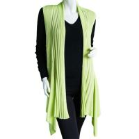 Magic Convertible Long Ribbed Sweater Vest - Leaf Green