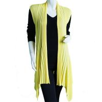 Magic Convertible Long Ribbed Sweater Vest - Baby Yellow