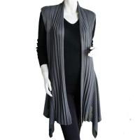 Magic Convertible Long Ribbed Sweater Vest - Charcoal