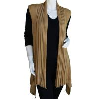 Magic Convertible Long Ribbed Sweater Vest - Gold