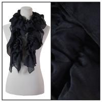 Scarves - Bohemian Solid 3171 - Black