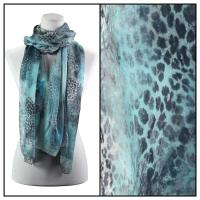 Scarves - Watercolor Leopard 2084 - Blue