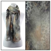 Scarves - Watercolor Leopard 2084 - Brown