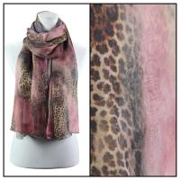 Scarves - Watercolor Leopard 2084 - Peach