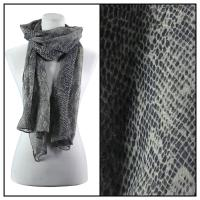 Scarves - Small Print Reptile 4117 - Black