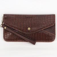 Wristlet - Crocodile - Brown