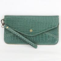 Wristlet - Crocodile - Teal