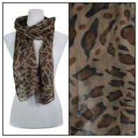 Scarves - Leopard Print 3124 - Brown
