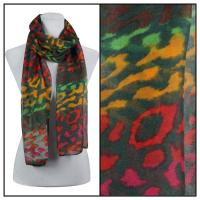 Scarves - Multi Leopard 3131 - Green