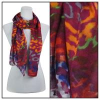 Scarves - Multi Leopard 3131 - Purple