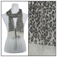Scarves - Sequined Leopard 3139 - Beige