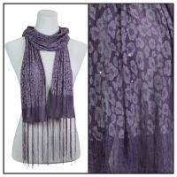 Scarves - Sequined Leopard 3139 - Purple