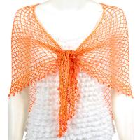 Shawls - Beaded Triangle - Pumpkin - AB