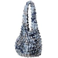Popcorn Bags - Abstract Multi Navy- Silver