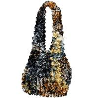 Popcorn Bags - Abstract Black-Gold - Copper
