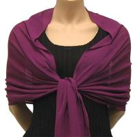 Georgette Shawls - Solid Raspberry