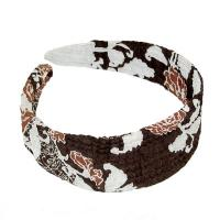 Georgette Headbands -  Chocolate-Ivory Floral