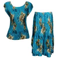 Sets Satin Mini Pleat - Cap / Skirt  - Taupe on Teal