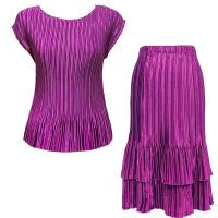 Sets Satin Mini Pleat - Cap / Skirt  - Solid Orchid