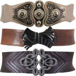 Wide Fashion Stretch Belts