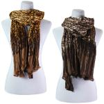 Scarves - Pleated Leopard 1003
