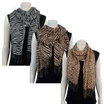 Scarves - Semi Sheer Animal Prints