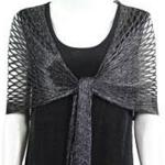 Shawls - Metallic Fishnet
