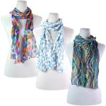 Skinny Scarves - Crinkled Chiffon (CLEARANCE)