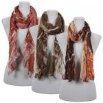 Scarves - Crinkle Giraffe Abstract 2117