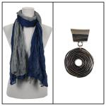 Scarves - Two-Tone Crinkle 908081 w/ Pendant