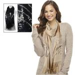 Scarves-Abstract Sequined- Cashmere Feel 4109