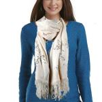Scarves - Floral Sequined - Cashmere Feel 4108