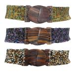 Beaded Bali Stretch Belts